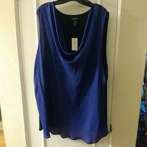 Purple Colorblock blouse NWT
